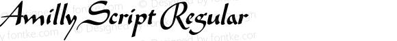 Amilly Script Regular Version 1.010