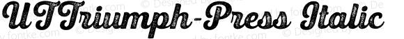 UTTriumph-Press Italic