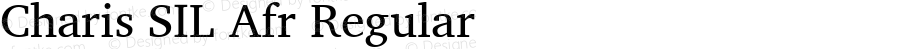 Charis SIL Afr Regular Version 5.000