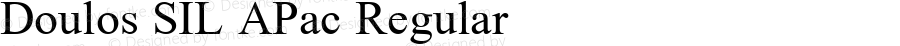 Doulos SIL APac Regular Version 5.000