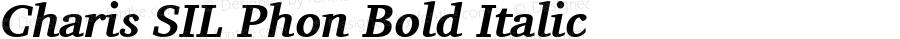 Charis SIL Phon Bold Italic Version 5.000