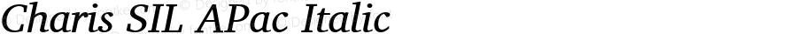 Charis SIL APac Italic Version 5.000