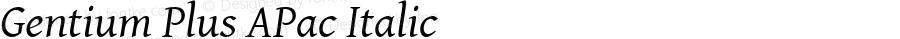 Gentium Plus APac Italic Version 5.000