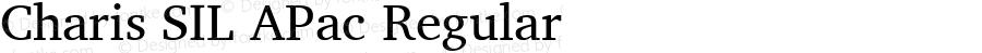 Charis SIL APac Regular Version 5.000