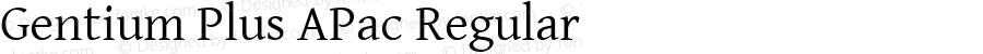 Gentium Plus APac Regular Version 5.000