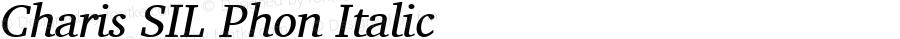 Charis SIL Phon Italic Version 5.000