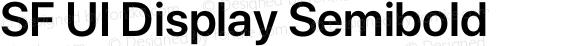 SF UI Display Semibold preview image
