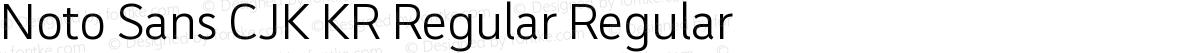 Noto Sans CJK KR Regular Regular