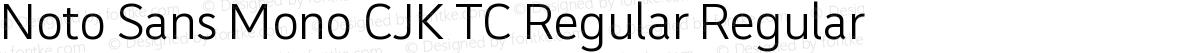 Noto Sans Mono CJK TC Regular Regular