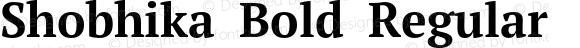 Shobhika Bold Regular