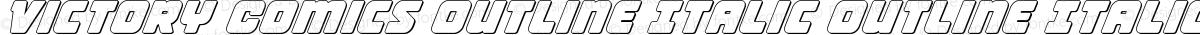 Victory Comics Outline Italic Outline Italic