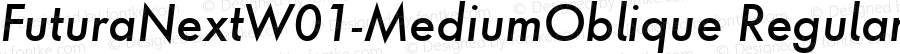 Futura Next W01 Medium Oblique