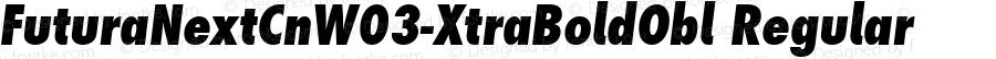 Futura Next Cn W03 XtraBold Obl