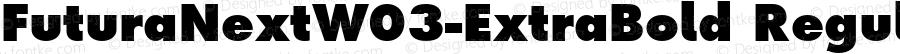 Futura Next W03 ExtraBold