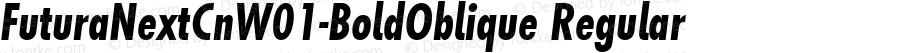 Futura Next Cn W01 Bold Oblique