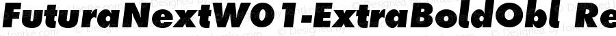 Futura Next W01 ExtraBold Obl