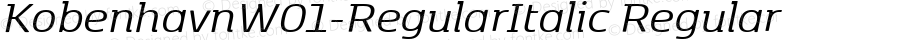 KobenhavnW01-RegularItalic Regular Version 1.00