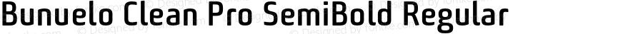Bunuelo Clean Pro SemiBold Regular Version 1.34