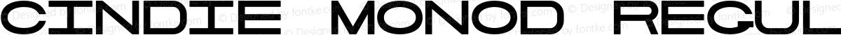 Cindie MonoD Regular