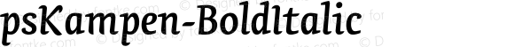 psKampen-BoldItalic ☞ Version 1.000;com.myfonts.easy.fontopia.pskampen.bold-italic.wfkit2.version.4qkQ
