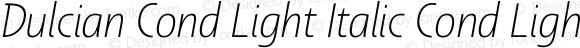Dulcian Cond Light Italic Cond Light Italic