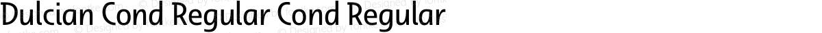 Dulcian Cond Regular Cond Regular