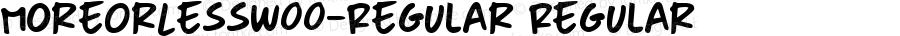 MoreOrLessW00-Regular Regular Version 1.00