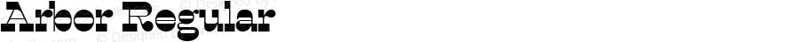Arbor Regular 1.000; ttfautohint (v0.96) -l 8 -r 50 -G 200 -x 14 -w