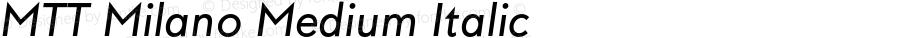 MTT Milano Medium Italic Version 1.000;PS 001.000;hotconv 1.0.70;makeotf.lib2.5.58329