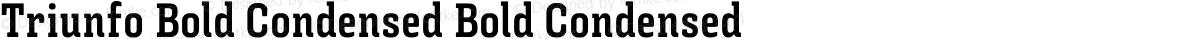 Triunfo Bold Condensed Bold Condensed