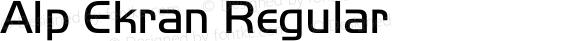 Alp Ekran Regular Version 4.20 April 3, 2011