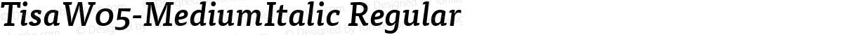 TisaW05-MediumItalic Regular