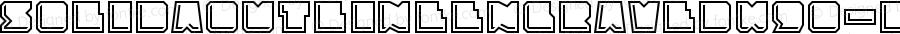 SolidaOutlineEngravedW90-Rg Regular Version 1.10