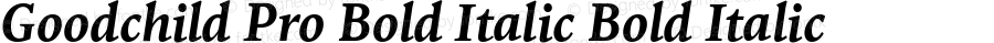 Goodchild Pro Bold Italic Bold Italic Version 001.000