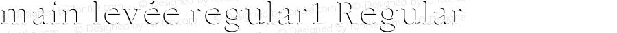 main levée regular1 Regular Version 1.00 February 22, 2014, initial release