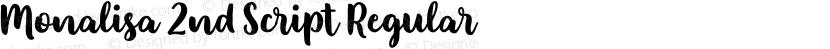 Monalisa 2nd Script Regular Preview Image