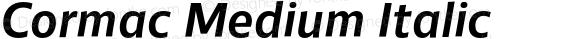 Cormac Medium Italic