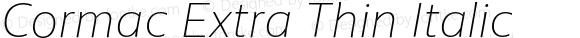 Cormac Extra Thin Italic