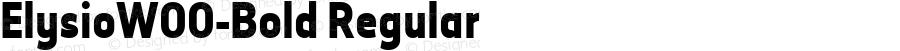 ElysioW00-Bold Regular Version 1.00