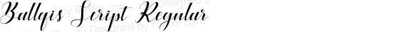 Ballqis Script Regular preview image