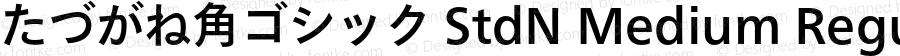 たづがね角ゴシック StdN Medium Regular Version 1.00