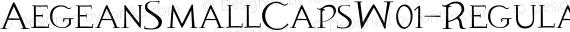 AegeanSmallCapsW01-Regular Regular preview image