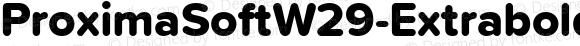 ProximaSoftW29-Extrabold Regular Version 1.20