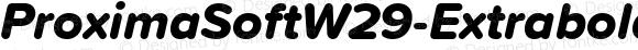 ProximaSoftW29-ExtraboldIt Regular Version 1.20