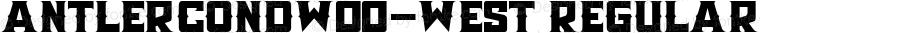 AntlerCondW00-West Regular Version 1.00