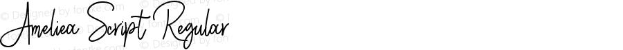 Ameliea Script Regular Version 1.00 January 26, 2017, initial release