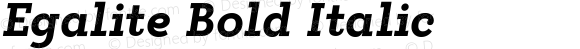 Egalite Bold Italic