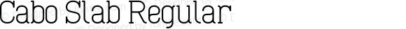 Cabo Slab Regular Version 1.002;Fontself Maker 1.1.0