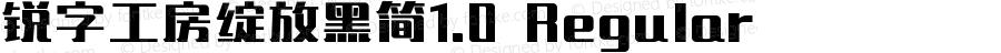 锐字工房绽放黑简1.0 Regular Version 1.0