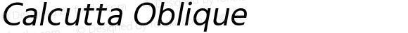Calcutta Oblique